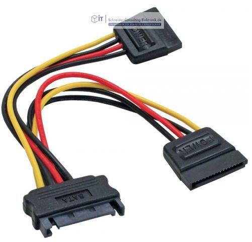 sata s ata strom adapter kabel 3x sata anschluss 2 21 schneider consulting elektronik gmbh. Black Bedroom Furniture Sets. Home Design Ideas