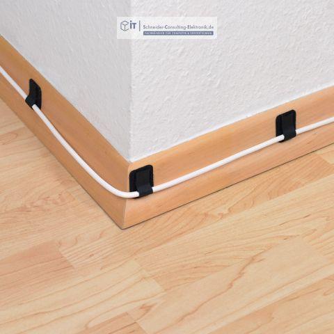 10 selbstklebende wand kletthalter ltc schwarz 4 40. Black Bedroom Furniture Sets. Home Design Ideas