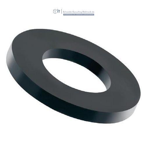 100 st ck kunststoff unterlegscheiben schwarz m8 nylon 5 06 schneider consulting elektronik. Black Bedroom Furniture Sets. Home Design Ideas