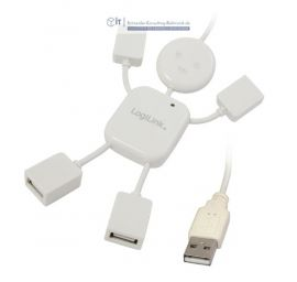 USB Hub 4 Port flexibel USB 2.0 USB Hangman