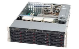 Supermicro 3HE Storage Server Gehäuse SC836TQ-R800B 800 Watt redundantes Netzteil 16x Hot-Swap HDD