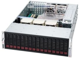 Supermicro 3HE Storage Server Gehäuse SC936A-R900B 900 Watt redundantes Netzteil 16x Hot-Swap HDD