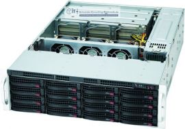 Supermicro 3HE Storage Server Gehäuse SC837E16-RJBOD1 1620 Watt redundantes 80+ Netzteil 28x Hot-Swap HDD