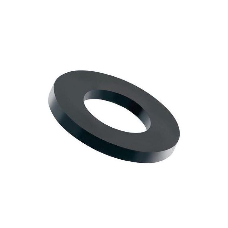 100 st ck kunststoff unterlegscheiben schwarz m5 nylon. Black Bedroom Furniture Sets. Home Design Ideas