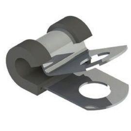 Kabelschelle Stahl mit Polster Schutzüberzug 14,3mm TPE